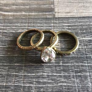 Silpada Brass Ring Set